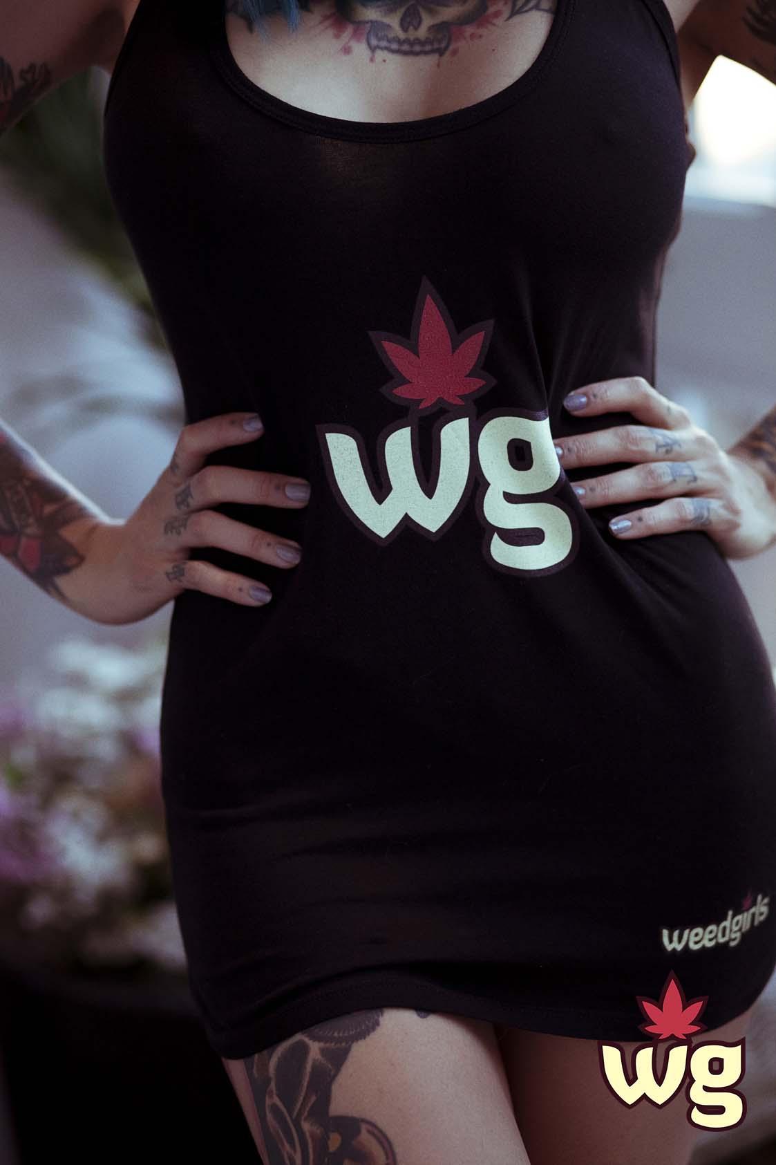 Weed Girls Black T Shirt