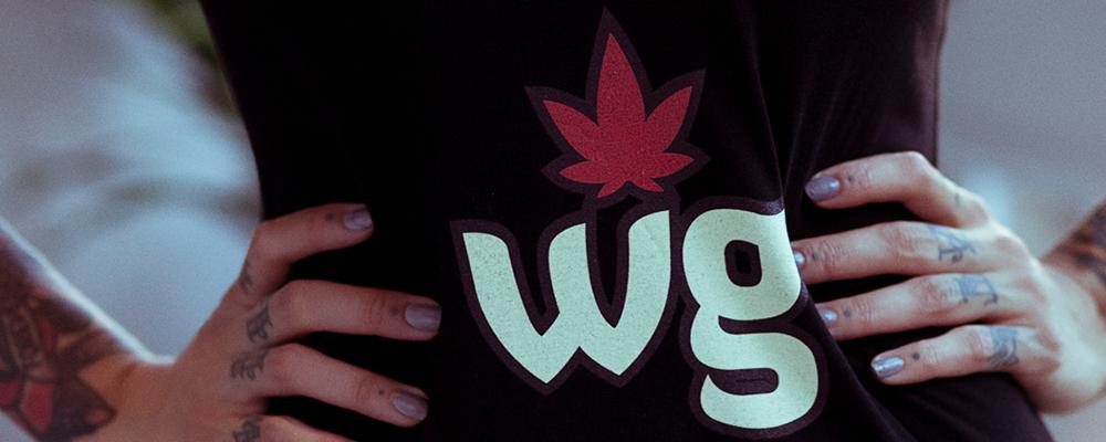 Black T shirt   Weed girls logo