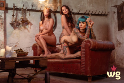 sexy women smoking cannabis   rock chicks with tattoos and fat joints