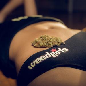weed girls black underwear
