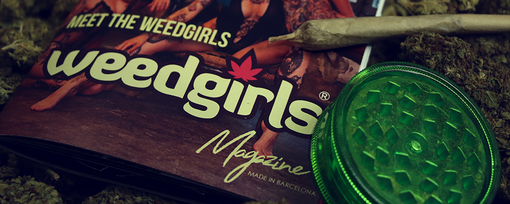 weed girls magazine and cannabis joint