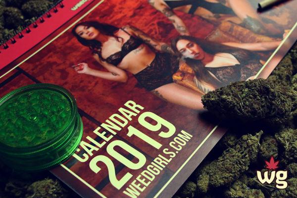 calendar 2019 weedgirls